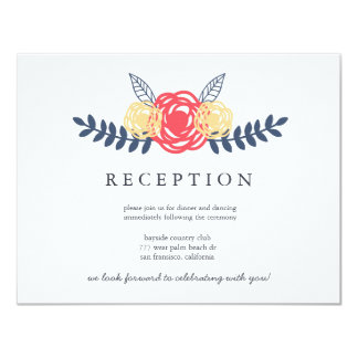Floral Reception Cards | WEDDINGS