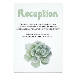 Floral Reception Succulent Cactus Green Wedding Card