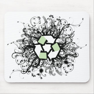Floral Recycle Mousepads