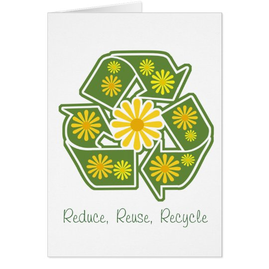 Floral Recycle Sign Card