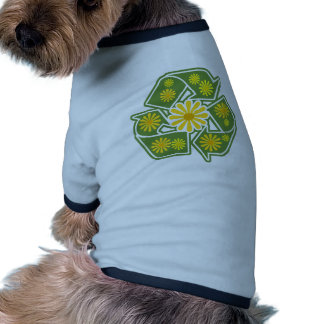 Floral Recycle Sign Dog Clothing