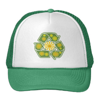 Floral Recycle Sign Trucker Hat