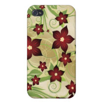 floral red 4 casing cases for iPhone 4