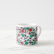 Floral Red , aqua and purple mugs