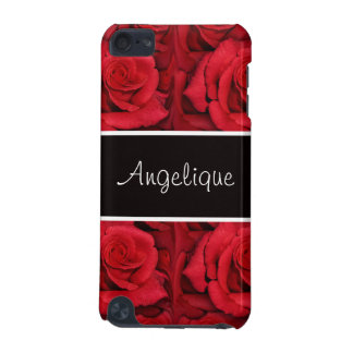 Floral Red black rose flower iPod Touch 5G Cases