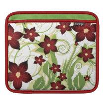 floral red elegance iPad sleeve