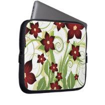 floral red  elegance laptop sleeve