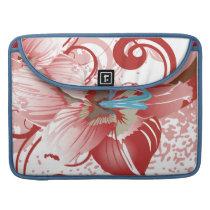 floral red  elegance MacBook pro sleeve