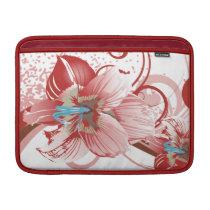 floral red elegance sleeve for MacBook air