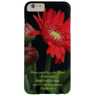 Floral, Red Gerbera Daisy w Psalm Verse Barely There iPhone 6 Plus Case