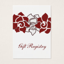 floral red Gift registry  Cards