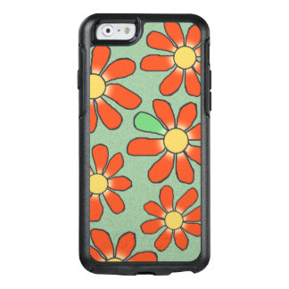 Floral Red Graphical on any Color OtterBox iPhone 6/6s Case