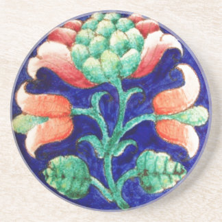 FLORAL Red Green Blue Coaster