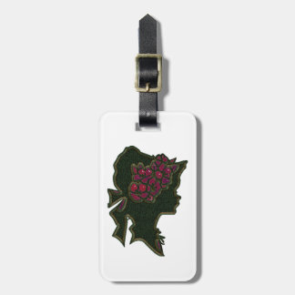 Floral Red Hat Cameo Luggage Tag