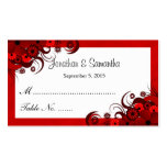 Floral Red Hibiscus Wedding Table Place Cards Double-Sided Standard Business Cards (Pack Of 100)