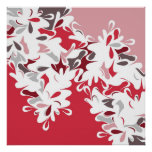 FLORAL RED POSTERS
