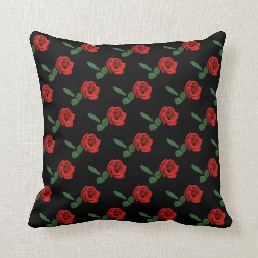 Floral Red Rose Throw Pillows Zazzle