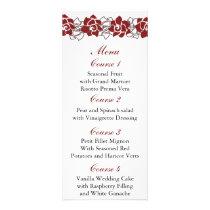 floral red Wedding menu