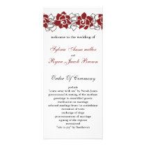 floral red Wedding program