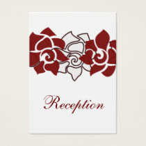 floral red wedding Reception Cards