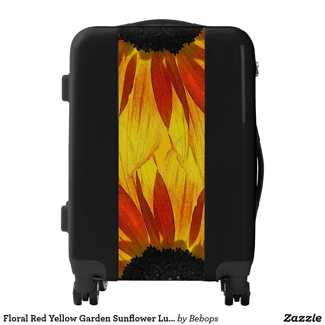 Floral Red Yellow Garden Sunflower Luggage
