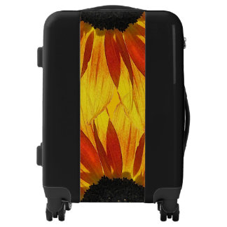 Floral Red Yellow Garden Sunflower Luggage