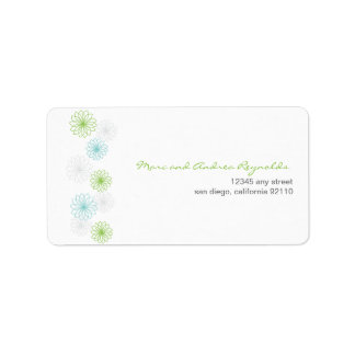 Floral Reflection Address Label