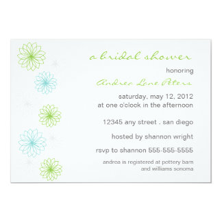Floral Reflection Bridal Shower Invitation