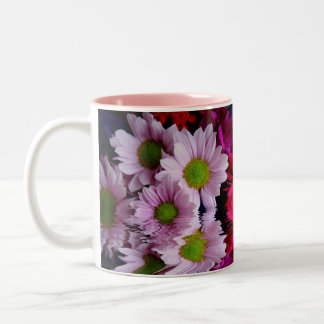 Floral Reflection Two-Tone Coffee Mug