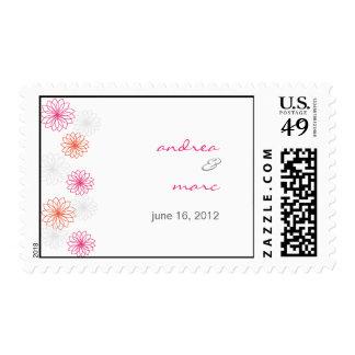 Floral Reflections Custom Wedding Postage