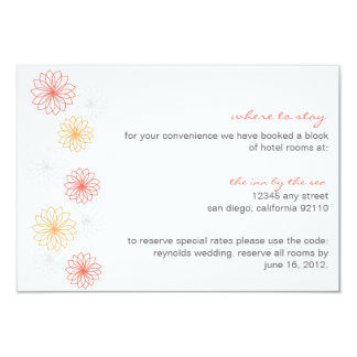 Floral Reflections Wedding Insert Card Invitation
