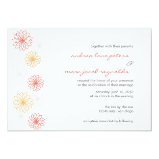 Floral Reflections Wedding Invitation
