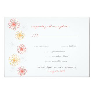 Floral Reflections Wedding Response Card Custom Announcements
