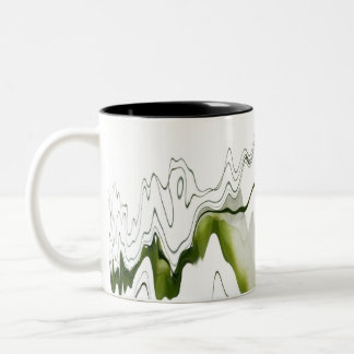 Floral reflexion Two-Tone coffee mug