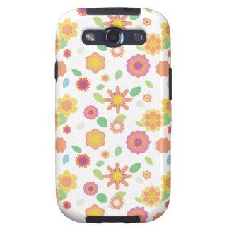 Floral-relevo simple galaxy s3 fundas