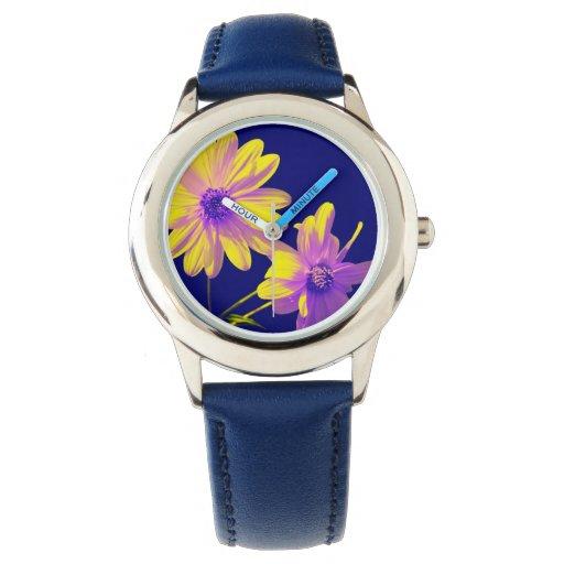 floral relojes
