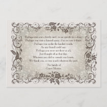 Floral Remembrance Bereavement Thank You Notecard