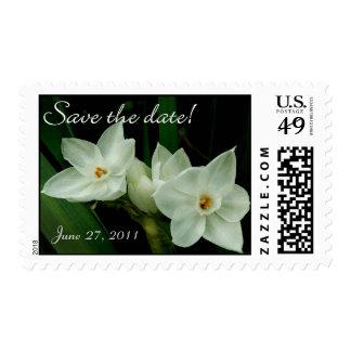 "Floral ""reserva sello de la fecha"""