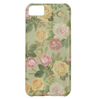 Floral resistida país del vintage funda para iPhone 5C