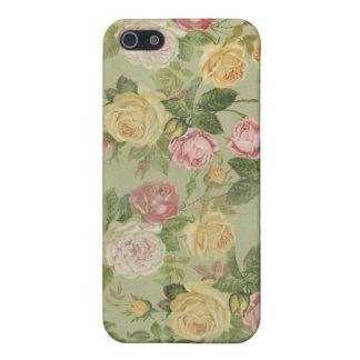Floral resistida país del vintage iPhone 5 carcasa