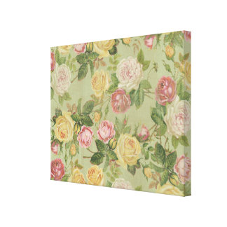 Floral resistida país del vintage impresiones en lona estiradas
