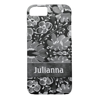 Floral Retro Case in Rich Gray Hues