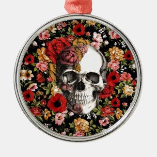Floral retro con el modelo del cráneo adorno