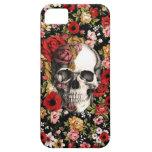 Floral retro con el modelo del cráneo iPhone 5 cárcasa