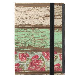 Floral retro del vintage de la cerca de madera vie iPad mini carcasa