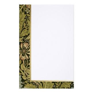 Floral retro - efectos de escritorio modificados papelería personalizada