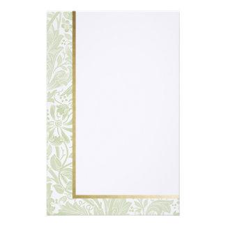 Floral retro en verde claro - efectos de  papeleria de diseño
