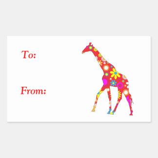 Floral retro enrrollado de la jirafa a de los peg