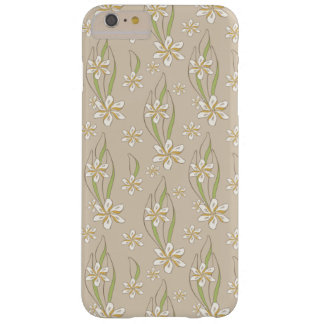 Floral retro femenino funda de iPhone 6 plus barely there