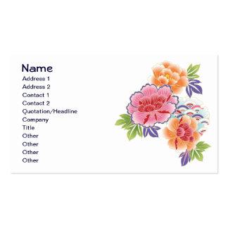 Floral retro femenino lindo fresco de la flor de tarjetas de visita